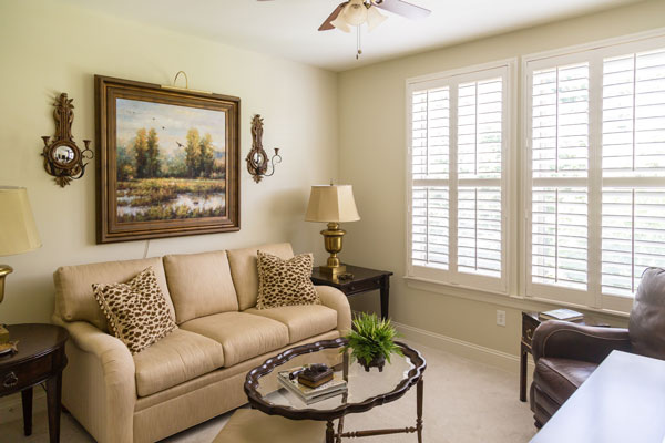 Custom Plantation Shutters for Homes Near Huntington Beach, California (CA) like Wood in Living Rooms