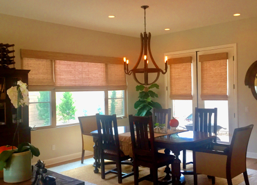 Design Trends for Window Coverings Near Seal Beach, California (CA) like Woven Woods in Dining Rooms