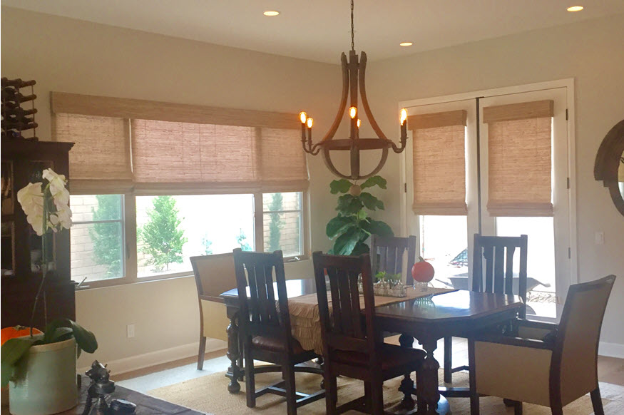 Woven Wood Shades in Newport Beach CA