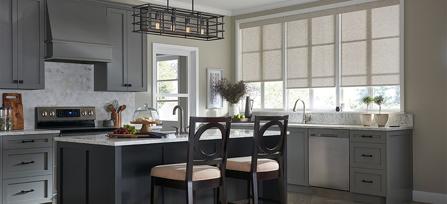 Custom Shades for Home Windows Near Huntington Beach & Irvine, California (CA) in Designer Home Kitchens