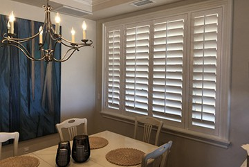 Custom Plantation Shutters for Dining Rooms Near Huntington Beach, California (CA)