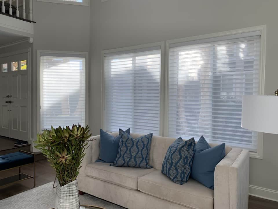 Altas Sheer Window Shadings for a soft look in the Living Room Near Huntington Beach, CA