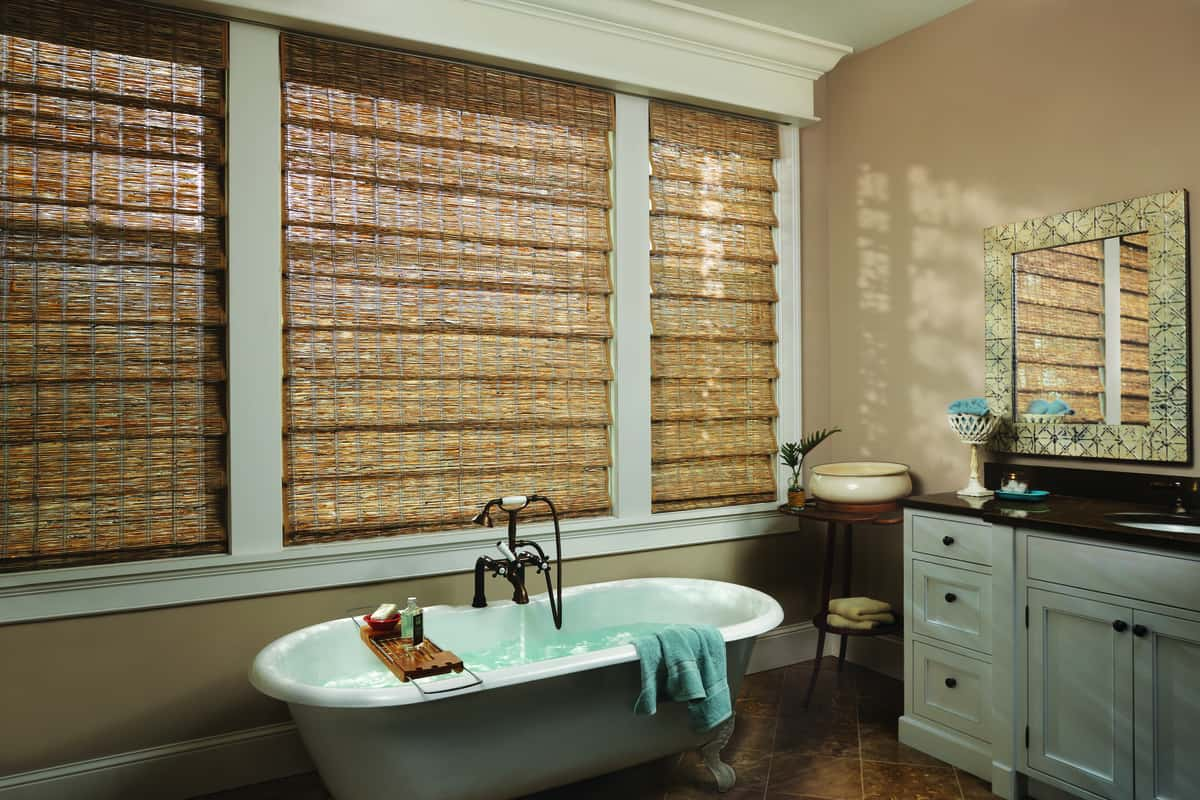 Upgrading Your Home's Style Near Huntington Beach, California (CA) with Woven Wood Blinds for Bathrooms